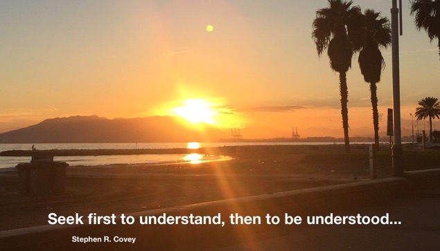Seek first to understand, then to be understood - Stephen R. Covey