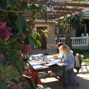 trainen in de tuin Blossom in Spain